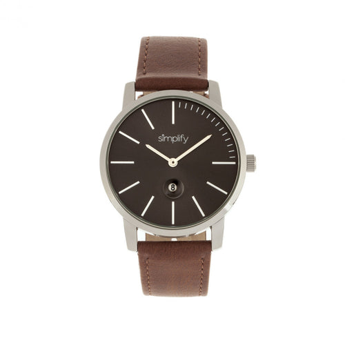 Simplify The 4700 Leather-Band Watch w/Date - SIM4703
