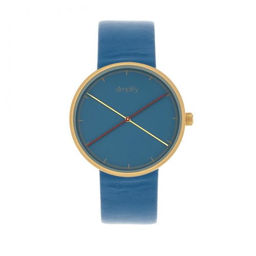 Simplify The 4100 Leather-Band Watch - SIM4107
