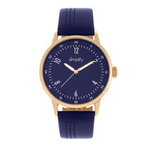 Load image into Gallery viewer, Simplify The 5700 Leather-Band Watch - Navy - SIM5705