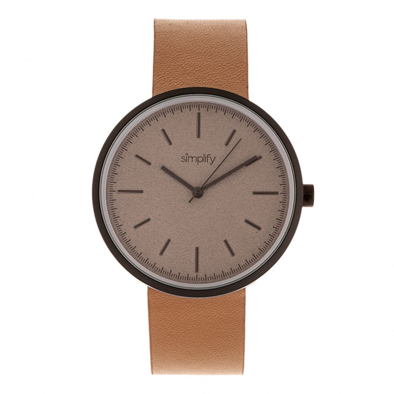 Simplify The 3000 Leather-Band Watch