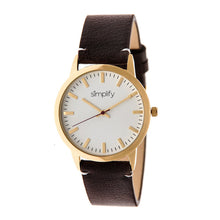 Load image into Gallery viewer, Simplify The 2800 Leather-Band Watch - Gold/Dark Brown - SIM2805