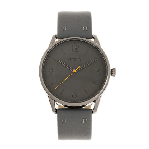 Simplify The 6300 Leather-Band Watch - SIM6306
