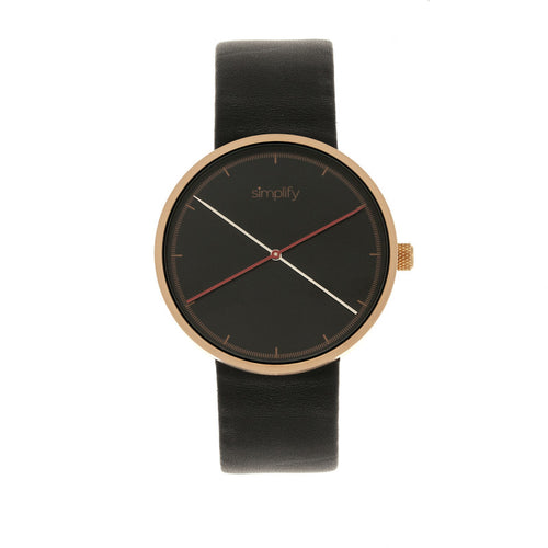 Simplify The 4100 Leather-Band Watch - SIM4106