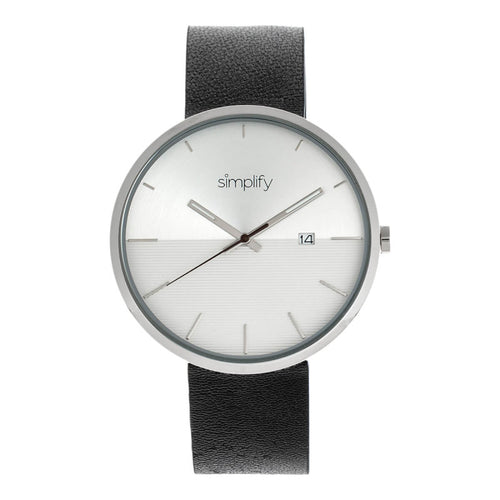 Simplify The 6400 Leather-Band Watch w/Date - SIM6401
