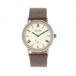 Simplify The 5100 Leather-Band Watch - Charcoal/White - SIM5103