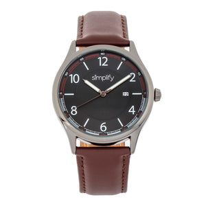 Simplify The 6900 Leather-Band Watch w/ Date