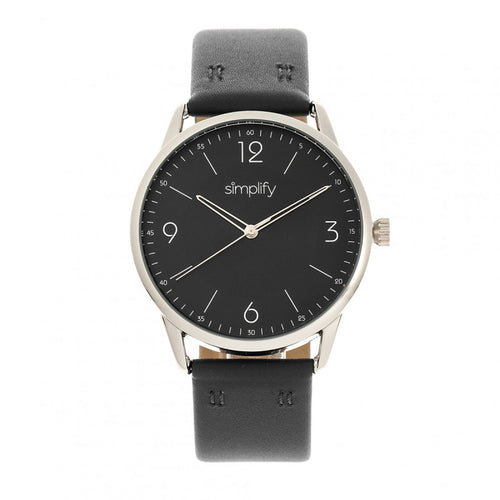 Simplify The 6300 Leather-Band Watch - SIM6303