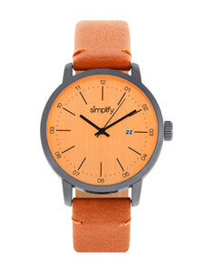 Simplify The 2500 Leather-Band Men's Watch w/ Date