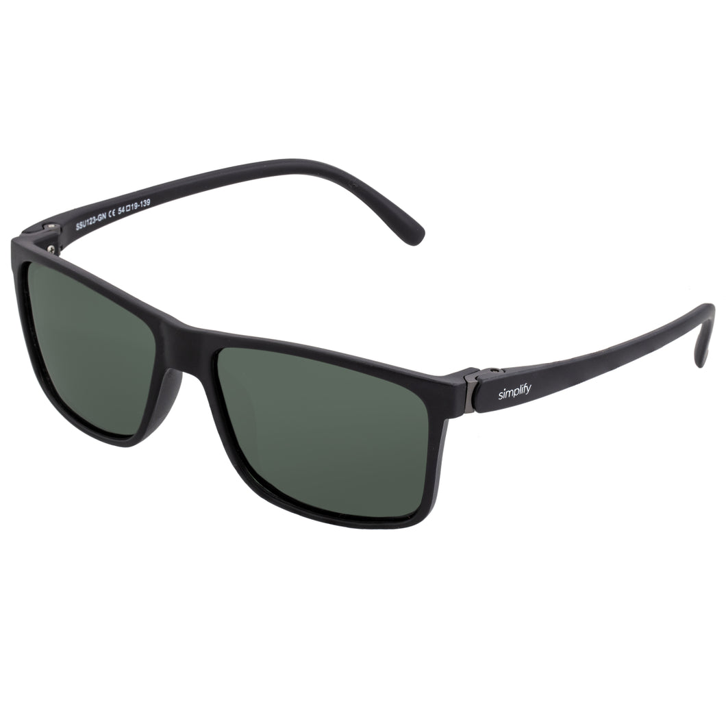Simplify Ellis Polarized Sunglasses - Matte Black/Black - SSU123-GN