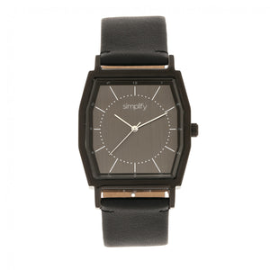 Simplify The 5400 Leather-Band Watch - Black  - SIM5404