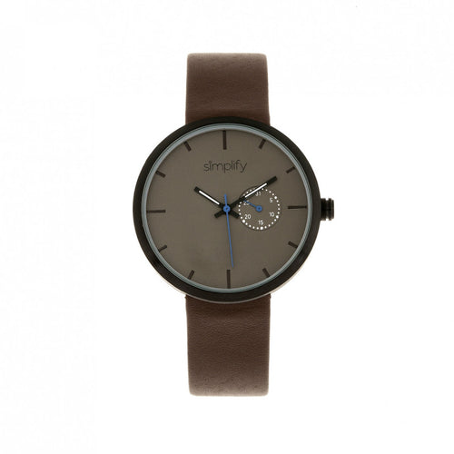 Simplify The 3900 Leather-Band Watch w/ Date - SIM3906