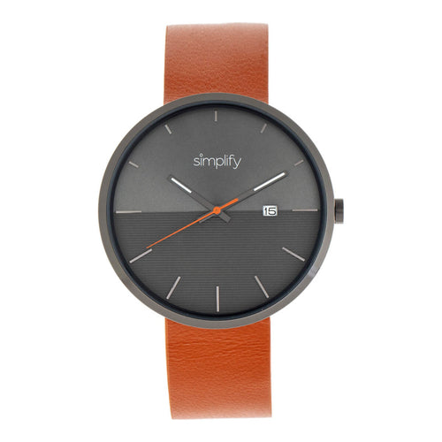 Simplify The 6400 Leather-Band Watch w/Date - SIM6405
