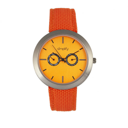 Simplify The 6100 Canvas-Overlaid Strap Watch w/ Day/Date - SIM6106