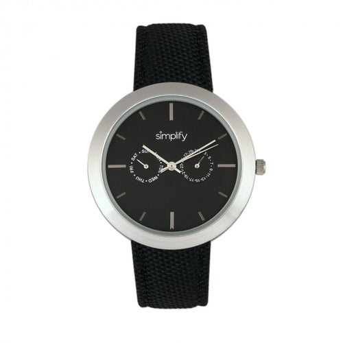 Simplify The 6100 Canvas-Overlaid Strap Watch w/ Day/Date - SIM6101