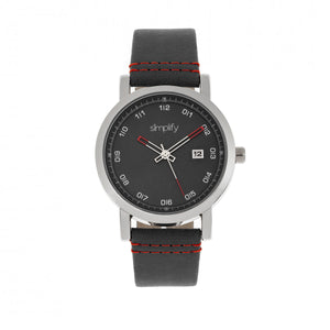 Simplify The 5300 Strap Watch - Silver/Black - SIM5302
