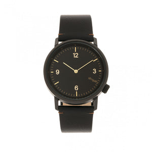 Simplify The 5500 Leather-Band Watch - Black - SIM5502