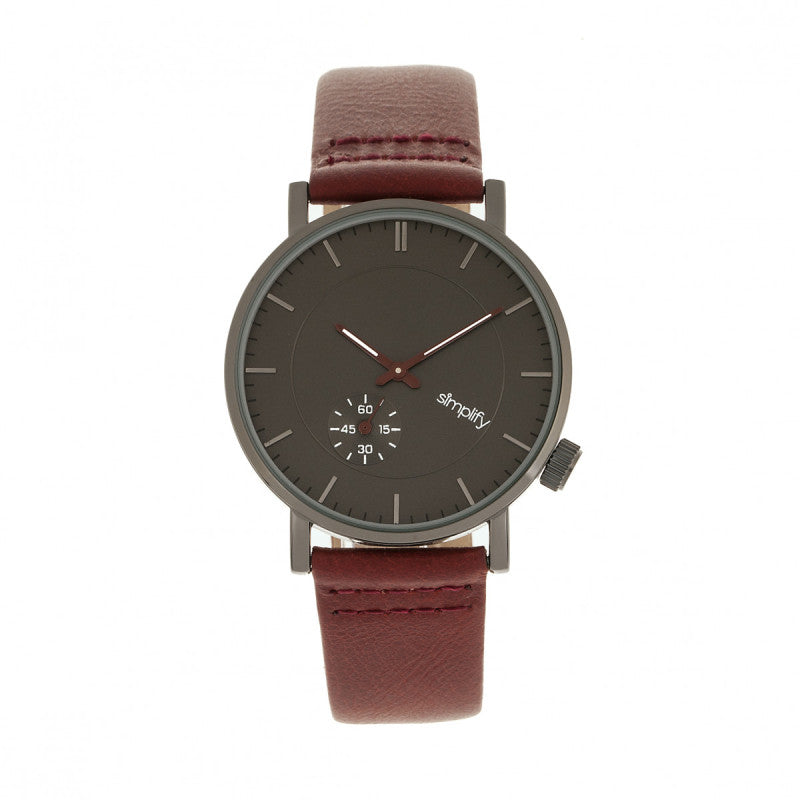 Simplify The 3600 Leather-Band Watch