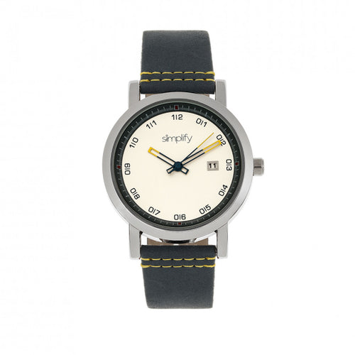 Simplify The 5300 Leather-Band Watch w/Date - SIM5301