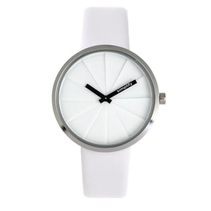 Simplify The 4000 Leather-Band Watch - White - SIM4001