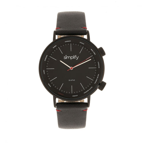 Simplify The 3300 Leather-Band Watch - SIM3306