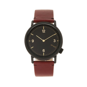 Simplify The 5500 Leather-Band Watch
