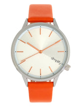 Load image into Gallery viewer, Simplify The 6700 Series Strap Watch - Orange/Silver - SIM6703