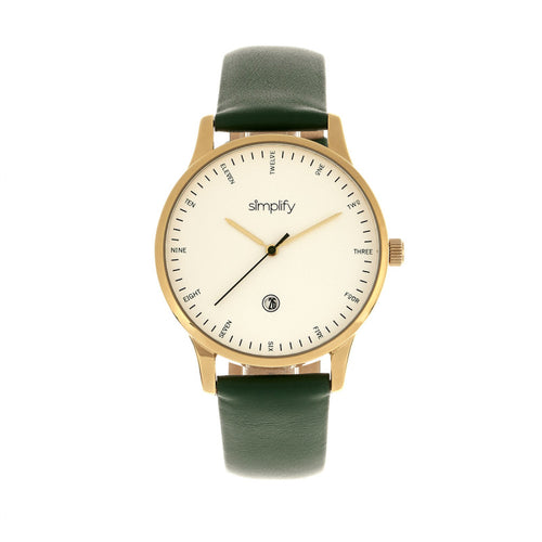 Simplify The 4300 Leather-Band Watch w/Date - SIM4305