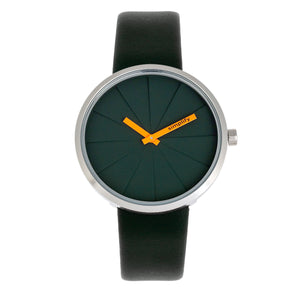 Simplify The 4000 Leather-Band Watch - Forest Green - SIM4002