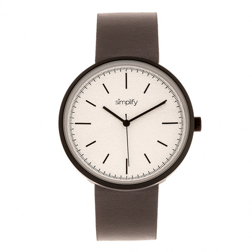 Simplify The 3000 Leather-Band Watch - SIM3008