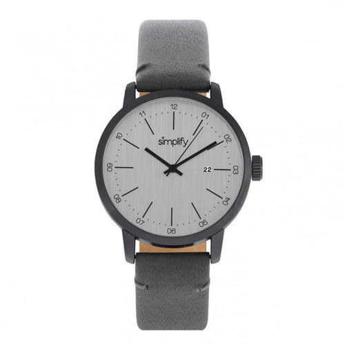 Simplify The 2500 Leather-Band Men's Watch w/ Date - SIM2505
