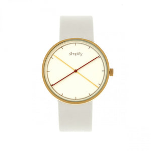 Simplify The 4100 Leather-Band Watch
