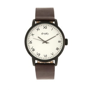 Simplify The 4200 Leather-Band Watch