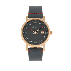 Simplify The 5300 Strap Watch - Rose Gold/Blue - SIM5305