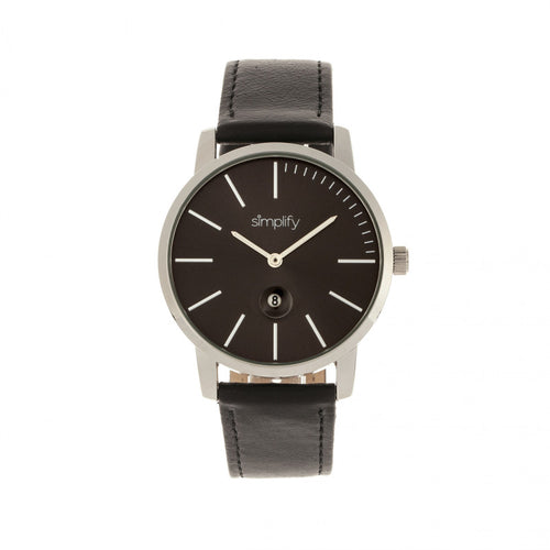 Simplify The 4700 Leather-Band Watch w/Date - SIM4702