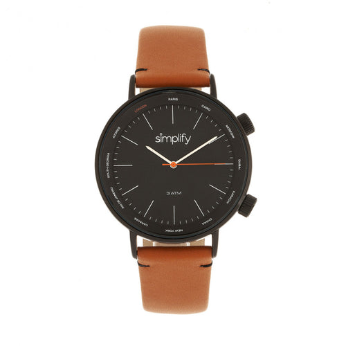 Simplify The 3300 Leather-Band Watch - SIM3307