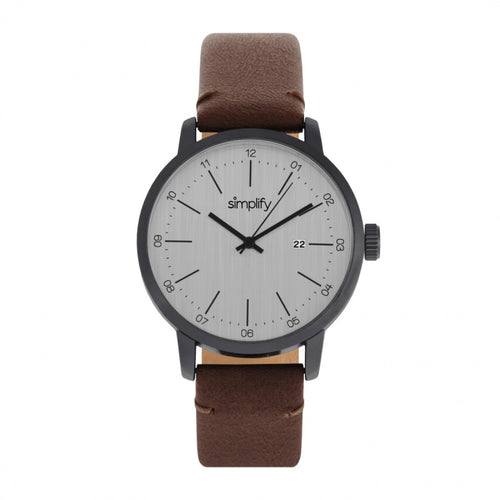 Simplify The 2500 Leather-Band Men's Watch w/ Date - SIM2503