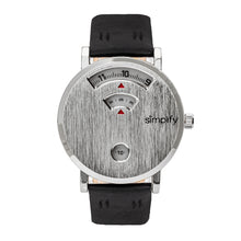 Load image into Gallery viewer, Simplify The 7000 Leather-Band Watch - Silver/Black - SIM7001