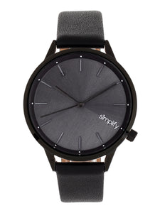 Simplify The 6700 Series Strap Watch - Black - SIM6707