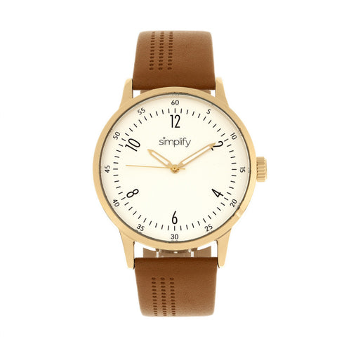 Simplify The 5700 Leather-Band Watch - SIM5704