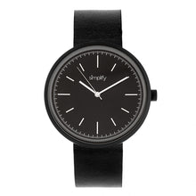 Load image into Gallery viewer, Simplify The 3000 Leather-Band Watch - Black - SIM3001
