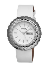 Load image into Gallery viewer, Simplify The 2100 Leather-Band Ladies Watch w/Date - Silver/White - SIM2101