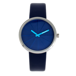 Simplify The 4000 Leather-Band Watch - Blue - SIM4005