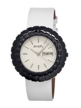 Load image into Gallery viewer, Simplify The 2100 Leather-Band Ladies Watch w/Date - Black/White/White - SIM2107