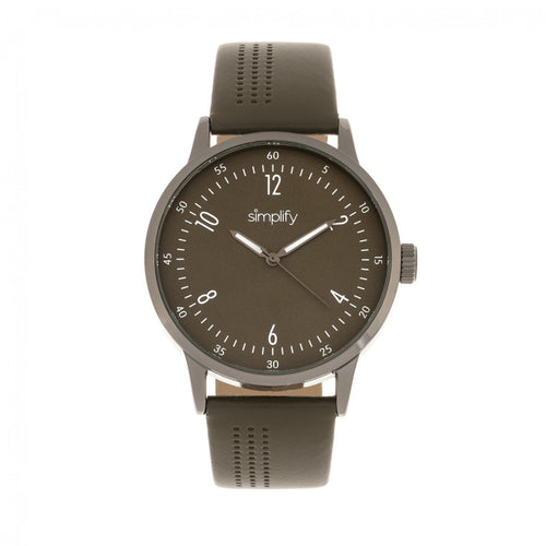 Simplify The 5700 Leather-Band Watch - SIM5707