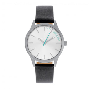 Simplify The 2400 Leather-Band Unisex Watch - Silver - SIM2401