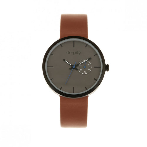 Simplify The 3900 Leather-Band Watch w/ Date - SIM3904