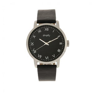 Simplify The 4200 Leather-Band Watch - Black - SIM4202