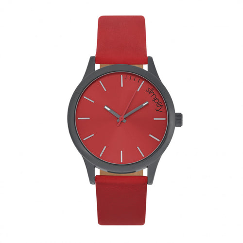 Simplify The 2400 Leather-Band Unisex Watch - SIM2405