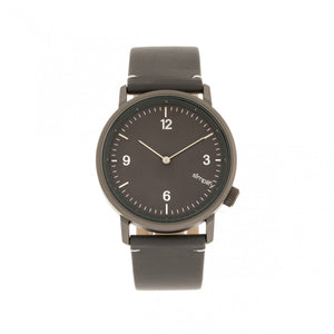Simplify The 5500 Leather-Band Watch - Gunmetal/Charcoal - SIM5506