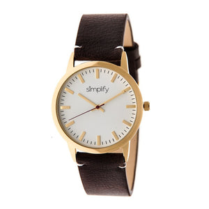 Simplify The 2800 Leather-Band Watch